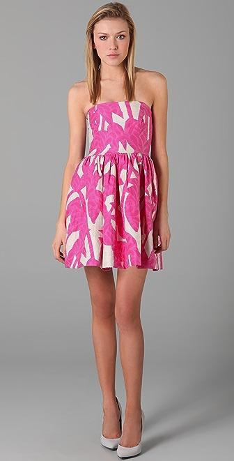 Shoshanna Strapless Full Skirt Dress