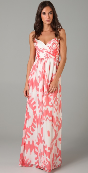 Shoshanna Ruched Long Dress