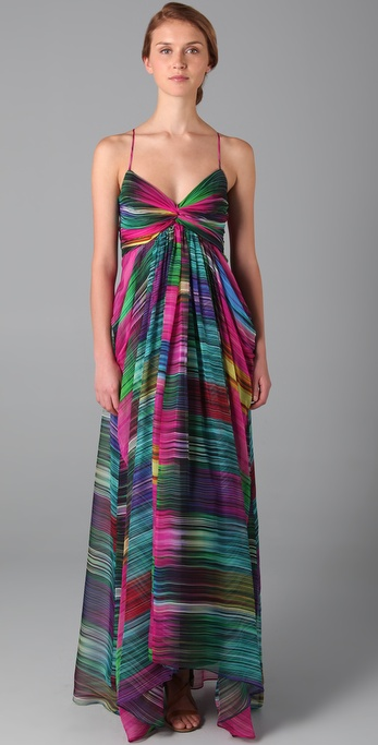 Shoshanna Sunset Stripe Maxi Dress