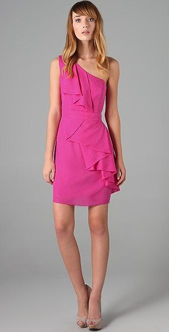 Shoshanna Cascade Ruffle Dress