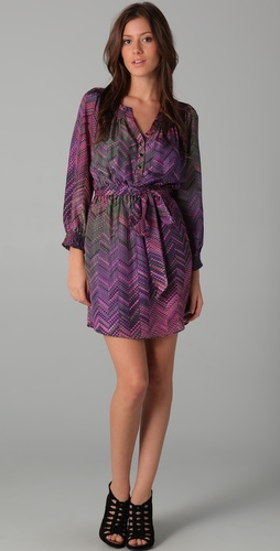 Shoshanna Venetian Tile Print Dress