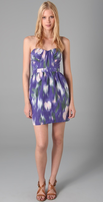 Shoshanna Monet Strapless Dress