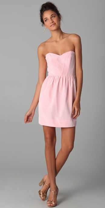 Shoshanna Sweetheart Strapless Dress