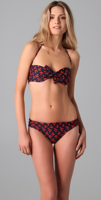 Shoshanna Anchors Away Bow Bikini Top