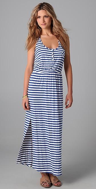 Shoshanna Snap Front Long Dress