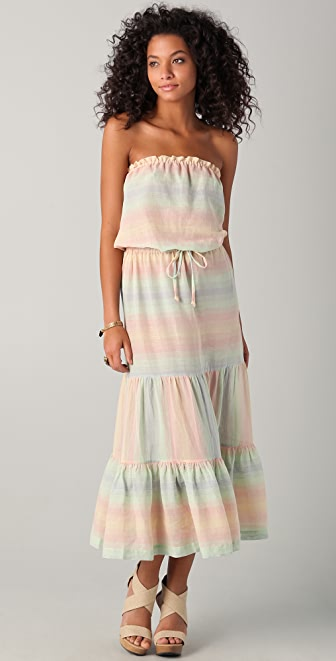 Shoshanna Pastel Striped Cover Up Dress