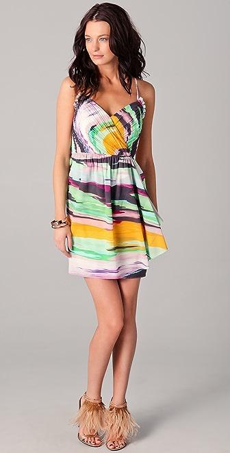 Shoshanna Serena Draped Front Dress