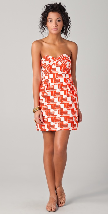 Shoshanna Reilly Zulu Print Party Dress