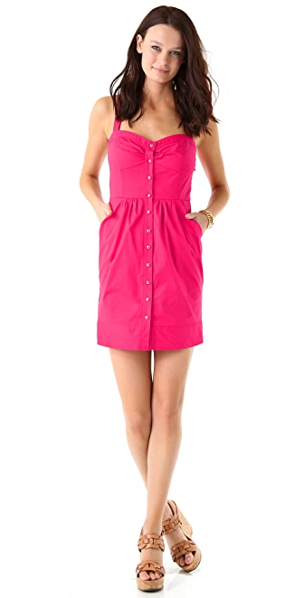 Shoshanna Bea Button Front Dress