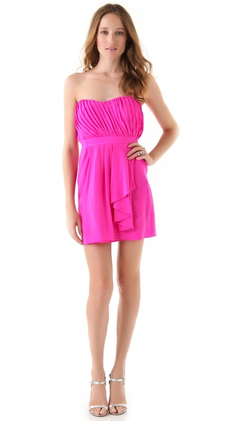 Shoshanna Courtney Strapless Dress