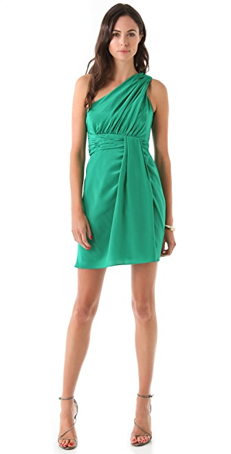 Shoshanna Nadalia One Shoulder Dress