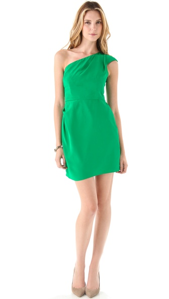 Shoshanna Marilyn One Shoulder Dress