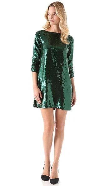 Shoshanna Tara Sequin Dress