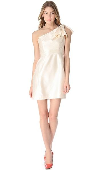 Shoshanna Amber One Shoulder Dress