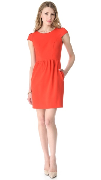 Shoshanna Antonia Cap Sleeve Dress