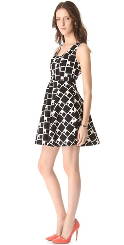 Shoshanna Sabrina Print Dress