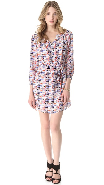 Shoshanna Taryn Print Shirtdress