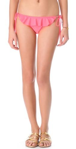 Shoshanna Neon Ruffle Bikini Bottoms