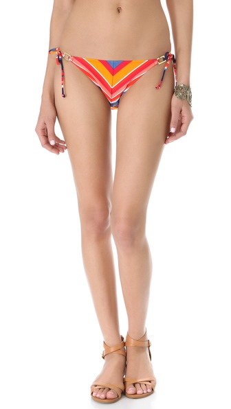 Shoshanna Cape Town Striped Bikini Bottoms
