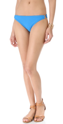 Shop Shoshanna Turquoise Pique Bikini Bottoms and Shoshanna online - Apparel, Womens, Swim, Swim,  online Store