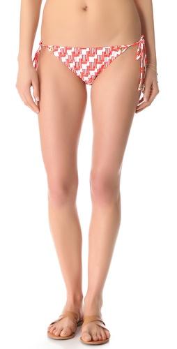 Shoshanna Zulu Eyelet String Bikini Bottoms