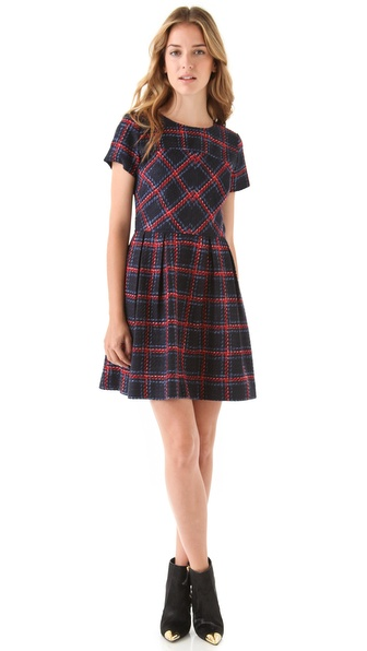 Shoshanna Allison Plaid Dress