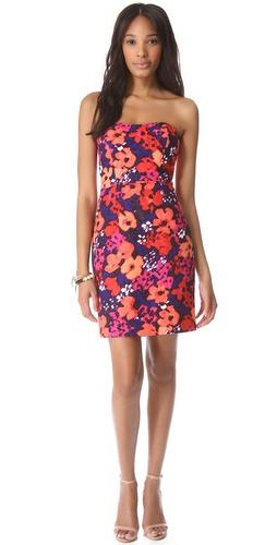 Shoshanna Janie Floral Strapless Dress
