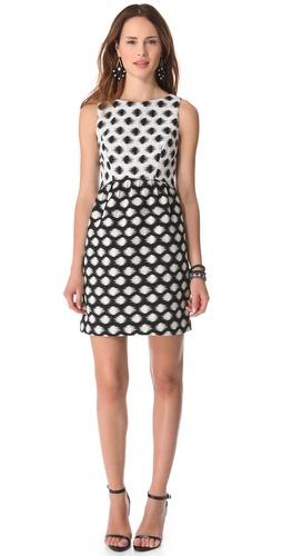 Shoshanna Janine Combo Dress