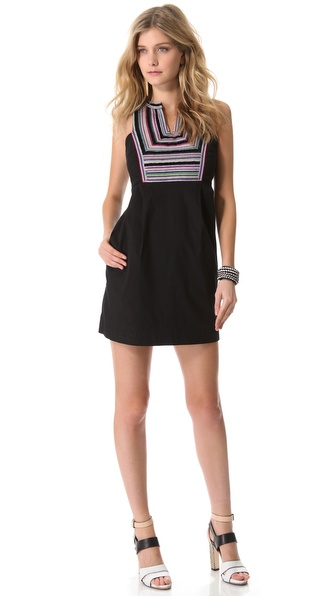 Shoshanna Embroidered Gwen Dress
