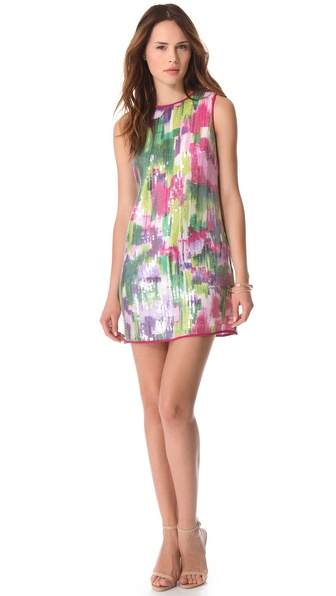 Shoshanna Regina Sequin Shift Dress