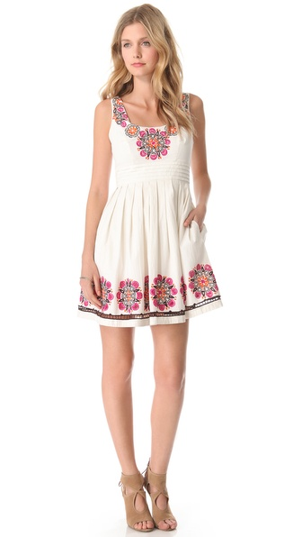 Shoshanna Embroidered Lynette Dress