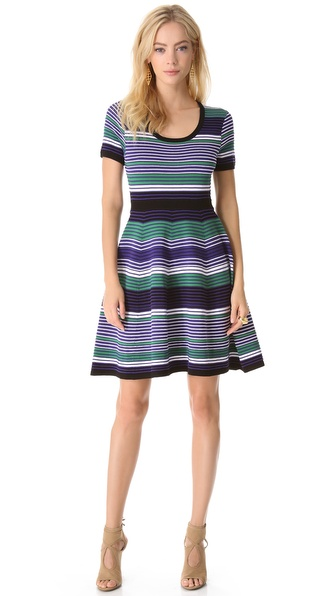 Shoshanna Striped Aviva Dress