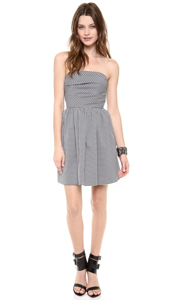 Shoshanna Libby Mini Houndstooth Dress