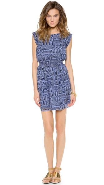 Shoshanna Faye Dress - Denim Blue/Black