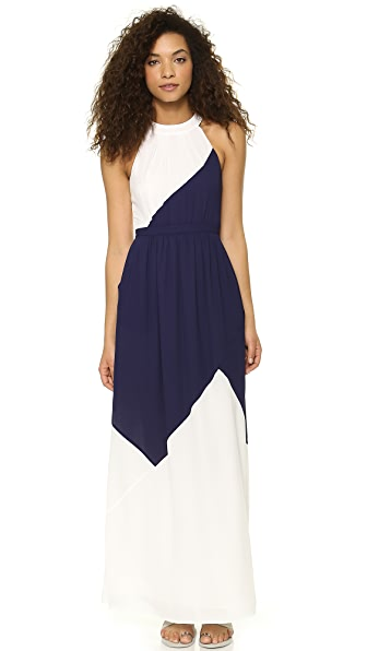 Shoshanna Combo Darren Maxi Dress