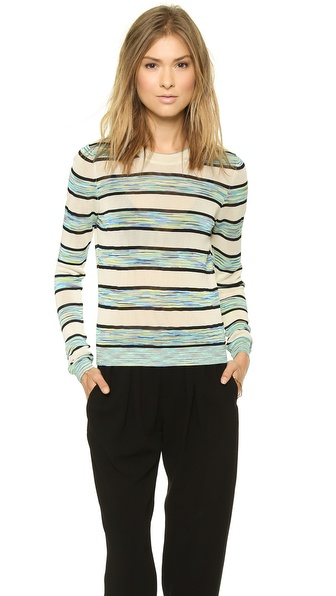 Shoshanna Long Sleeve Space Dye Kim Sweater