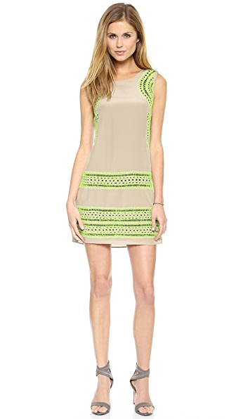 Shoshanna Embroidered Brenda Dress