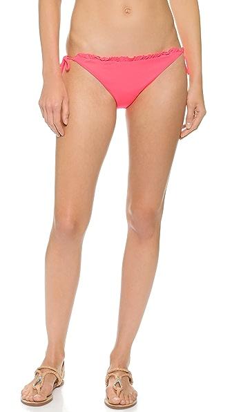 Shop Shoshanna online and buy Shoshanna Neon Ruby String Bikini Bottoms Neon Ruby swimwear online