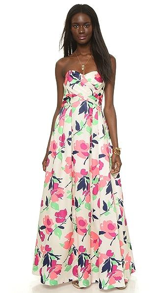 Kupi Shoshanna haljinu online i raspordaja za kupiti Shoshanna Shoshanna Midnight Emelda Maxi Dress Champagne/Magenta online