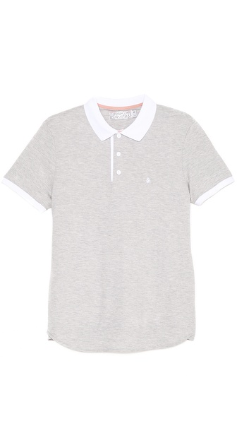 Shipley & Halmos James Gym Grey Polo Shirt
