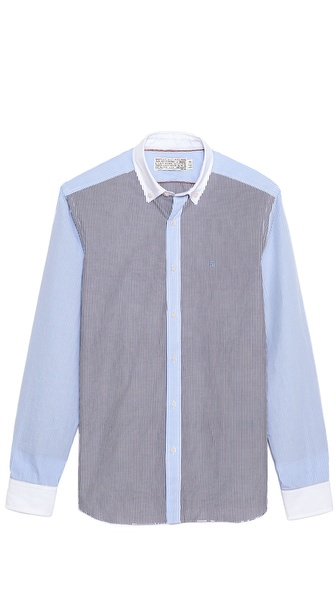 Shipley & Halmos Banker Sport Shirt with Contrast Collar