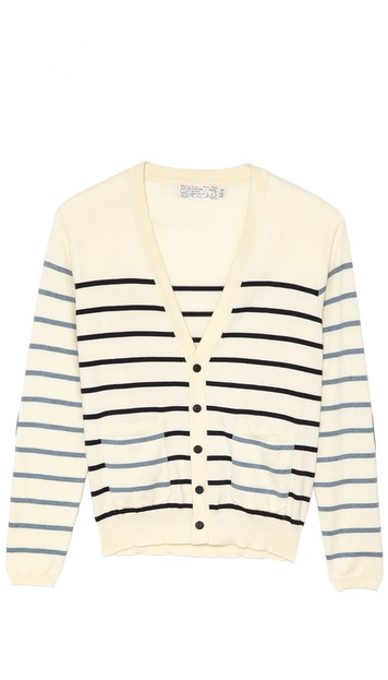 Shipley & Halmos Laszlo Striped Button Cardigan