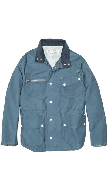 Shipley & Halmos Fin Blue Waxed Cotton Jacket