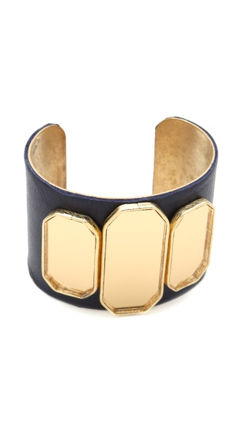 Sandy Hyun Deco Leather Cuff