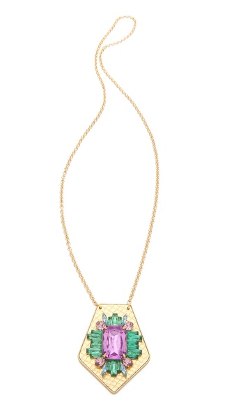 Sandy Hyun Jeweled Pendant Necklace