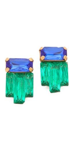 Sandy Hyun Jeweled Earrings