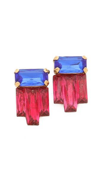 Sandy Hyun Jeweled Earrings