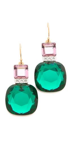 Sandy Hyun Jeweled Drop Earrings