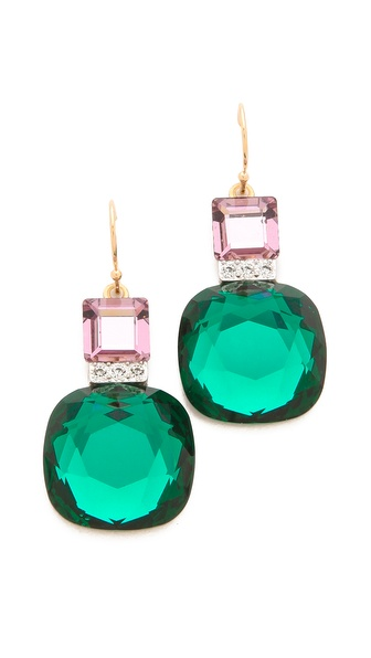 Sandy Hyun Jeweled Drop Earrings
