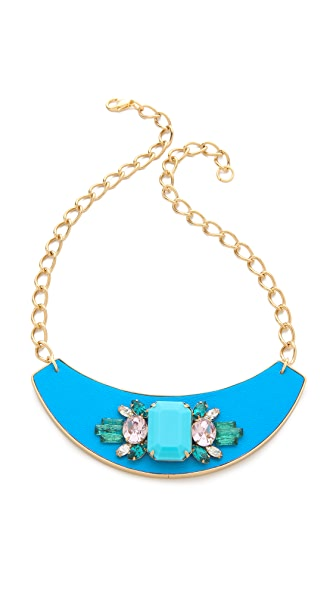 Sandy Hyun Jeweled Bib Necklace